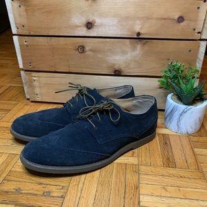 Calvin Klein Dark Blue Suede Men's Dress Shoes